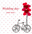 wedding card with a decorative bicycle vector image