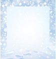 winter page vector image