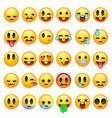 set of emoticons emoji isolated on white vector image