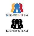 Business man logo vector image