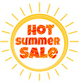 sun with the inscription hot summer sale vector image