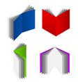 3d book symbols vector image
