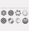 abstract geometric shapes set design for flyer vector image