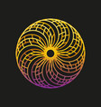 abstract logo design template of sun vector image vector image