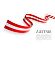 banner with austrian flag colors vector image