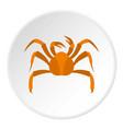 big crab icon circle vector image vector image