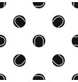 black and white tennis ball pattern seamless black vector image vector image
