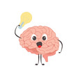 brain charactersathlete idea exercises and vector image vector image