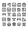 Buildings and Furniture Icons 14 vector image vector image