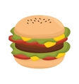burger fast food vector image vector image