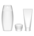 Cosmetics containers vector image vector image