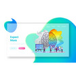 creative and logic thinking landing page template vector image