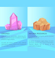crystals and natural resources realistic minerals vector image vector image
