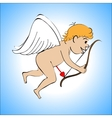 Cupid color on a blue background vector image vector image