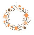decorative autumn wreath frame made branches vector image vector image