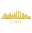Denver City skyline golden silhouette vector image vector image