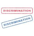 discrimination textile stamps vector image vector image
