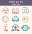 Fitness and Sport Gym Logos vector image vector image