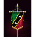 Flag of Saint Kitts and Nevis Festive Vertical Ban vector image vector image