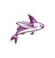 Flying Fish Retro vector image vector image