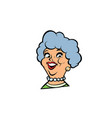 funny adult woman fashionable grandmother portrait vector image