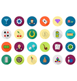 Game of chance round icons set
