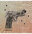 Handgun Elite On Vintage vector image vector image
