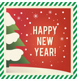 happy new year vintage greeting card design vector image vector image