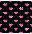 Hearts and arrows seamless pattern Robot in love vector image vector image