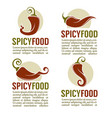 hot chili pepper logo icons stickers and emblems vector image vector image