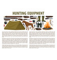 hunting equipment template vector image vector image