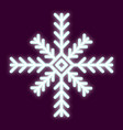 icon snowflake with the effect of neon light vector image vector image