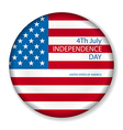 Independence day American signs hanging with chain vector image vector image