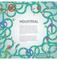 industrial mechanism template vector image vector image
