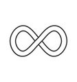 infinity sign linear icon vector image