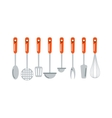 Kitchen ladle cooking home culinary silver vector image vector image