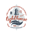 Lighthouse emblem for t shirt vector image
