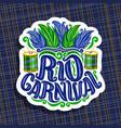 logo for rio carnival vector image