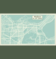 madison usa city map in retro style outline map vector image vector image