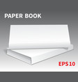 mock-ups of paper books-14 vector image vector image