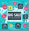 online shopping internet sale poster vector image vector image