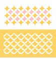 pastel color geometric pattern with circles and vector image