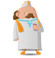 Pastor Man Character Cartoon Design vector image vector image