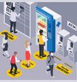 pharmacy vending machine vector image