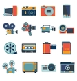Photo Video Icons Set vector image vector image