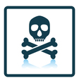 Poison sign icon vector image vector image