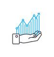 profitability monitoring thin line stroke vector image vector image