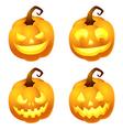 PumpkinFace vector image vector image