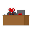 reception devil and rack acceptance guests vector image vector image