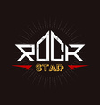 Rock Star - original lettering with lightnings and vector image